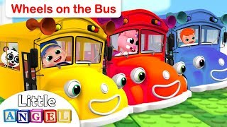 Wheels On The Bus  Peek A Boo Princess Songs And This Is The Way  Little Angel Nursery Rhymes