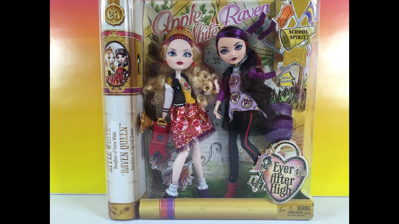 eah school spirit doll pack unboxing ever after high raven apple eah school spirit doll 2 pack unboxing ever after high raven apple pstoyreviews