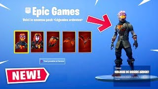 PLEASE THE PACK 'ARDENTS' FREE ON FORTNITE!