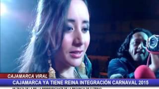 Ruth Guevara de la provincia de Cutervo es la Reina Integración del Carnaval de Cajamarca