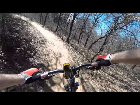 Arcadia lake red trail  21916, GoPro chest mount.