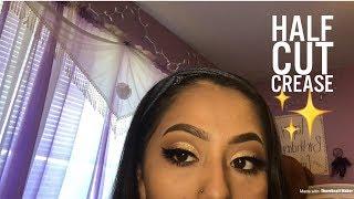 Easy Glitter Halfcut Crease Prom Makeup Tutorial    Morphe35O
