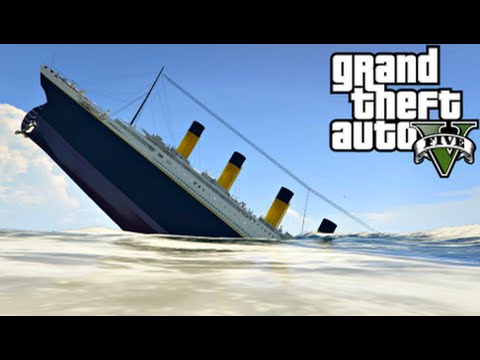 GTA 5 Mods - TITANIC MOD! (GTA 5 PC Mods Gameplay)