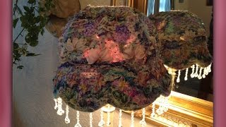 how to make a silk ribbon embroidered lampshade