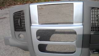 Dodge Ram Mopar White and Metallic Silver double din bezel