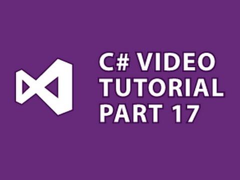 C# Tutorial 17 File I/O