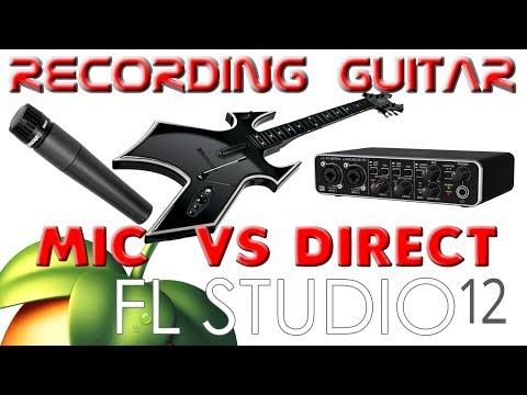 Mic Versus Direct input recording Metal Guitar FL Studio
