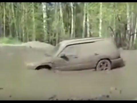 Subaru Forester Ssangyong Kyron Nissan Patrol 4x4 Off road Fails