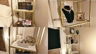 easy diy gold marble shelving unit ikea hack
