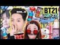 *방탄 브이티 BT21 시즌 2 화장품에 홀동 뿌리기…!!????