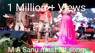 aziz night show in bhagalpur bihar | Singer M A Sanu and Rachna Chopra