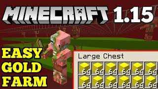 [EASY] Gold Farm | Minecraft 1.15 | How To Make a Minecraft Gold Farm
