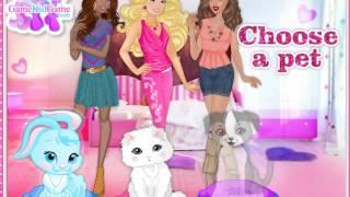 Барби с Близкими подружками наряжают Любимых СОБАЧКУ, КОТИКА и ЗАЙЧИКА!Мультик для деток!