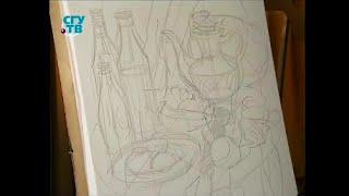 Уроки живописи # 27. Рисуем натюрморт в технике «гризайль». Часть 1