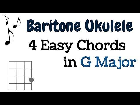 EASY G Major Progressions for BARITONE UKULELE - G, e minor, C, D7