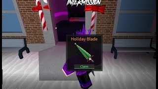 Unboxing Xmas Holiday Blade in Roblox Assassin!