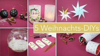 5 DIY Bastelideen zu Weihnachten | Dekoration & Geschenke