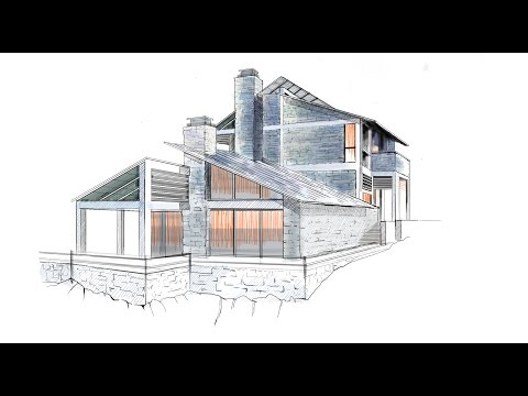 architectural rendering in sketchbook pro, from start to finish