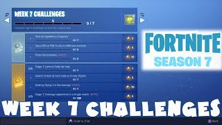 ALL Week 7 Challenges Guide - Fortnite Battle Royale Season 7
