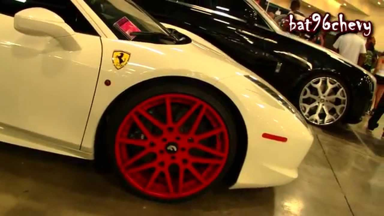 Don 2 Hd Wallpaper 1080p Rick Ross S White Ferrari 458 Italia On Red 22 Quot Forgiatos