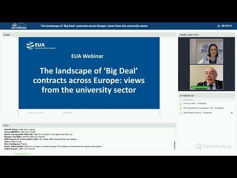 EUA webinar: The landscape of 'Big Deal' contracts across Europe: views from the university sector