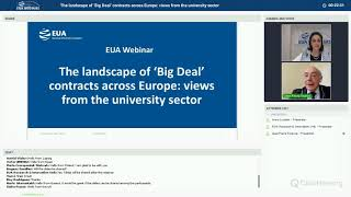 EUA webinar: The landscape of 'Big Deal' contracts across Europe: views from the university sector thumbnail