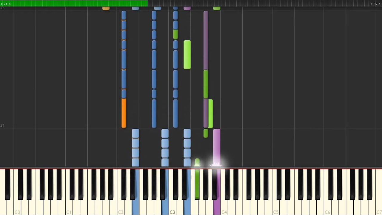The Morticians Daughter Black Veil Brides How To Play Piano Synthesia Tutorial