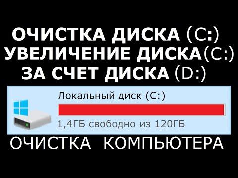 Как освободить место на диске C. Очистка компьютера.