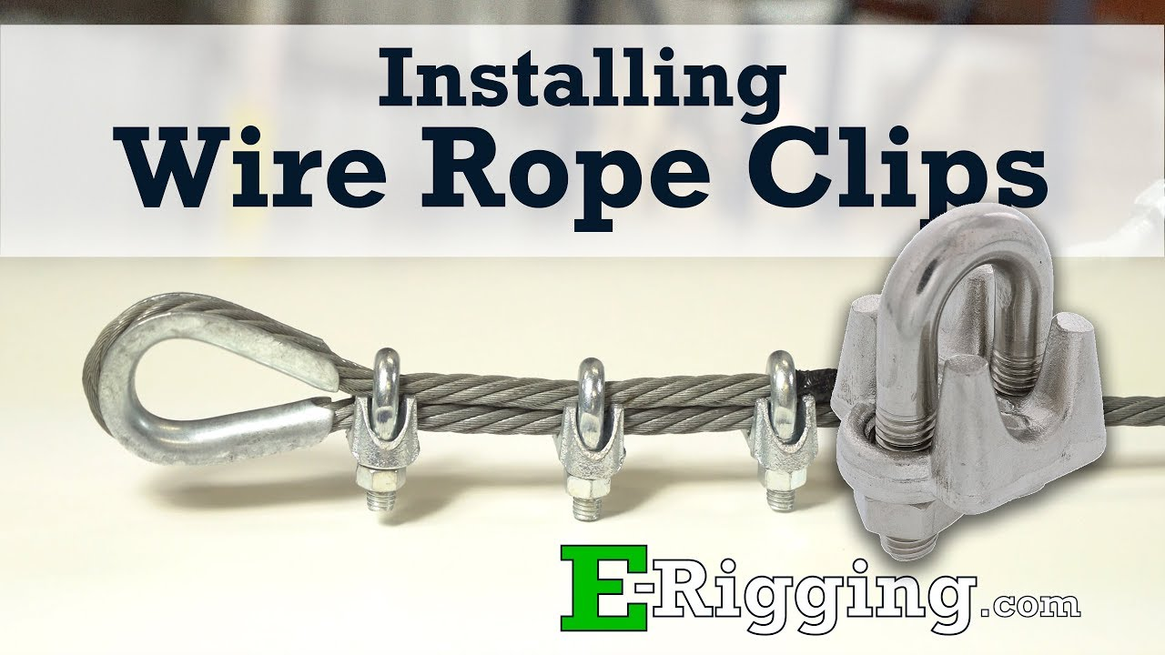 Installing Wire Rope Clips - YouTube