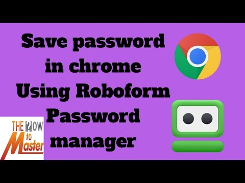 How to save password in chrome using Robo Form password manager | App Review