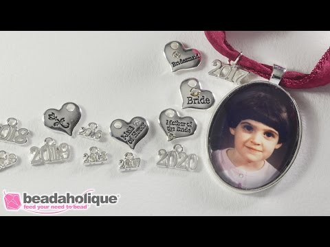 How to Make a Commemorative Photo Pendant with Graduation or Wedding Charms