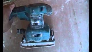 видео Вибрационная шлифмашина Makita BO3711