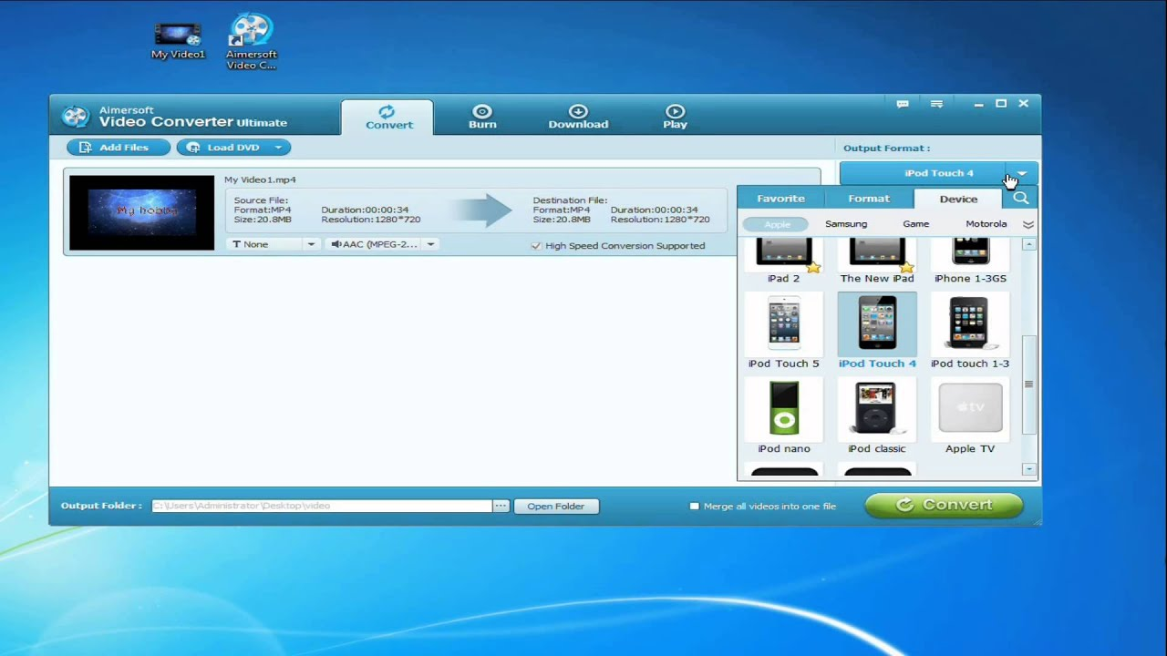 how to convert an mp4 file to avi