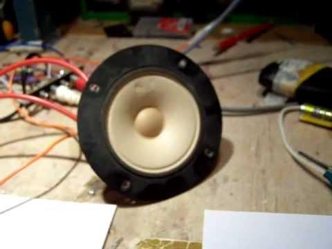 ultrasonic sound generator (3-4 W) with tweeter (schematic) - YouTube