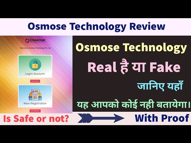 What Is Osmose Technology Pvt Ltd Complete Details