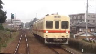 関東鉄道常総線キハ0形003号車取手~守谷間 前面展望