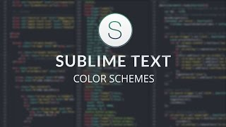 #4. Выбор цветовой темы в Sublime Text 2 / Color Schemes in Sublime Text 2