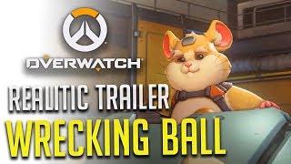 《鬥陣特攻Overwatch》火爆鋼球-Wrecking Ball 我認識的火爆鋼球才沒那麼厲害/The real Wrecking Ball/Hammond in the Overwatch