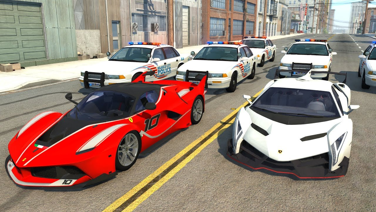Extreme Police Chases Crashesu0026Fails #19   BeamNG Drive