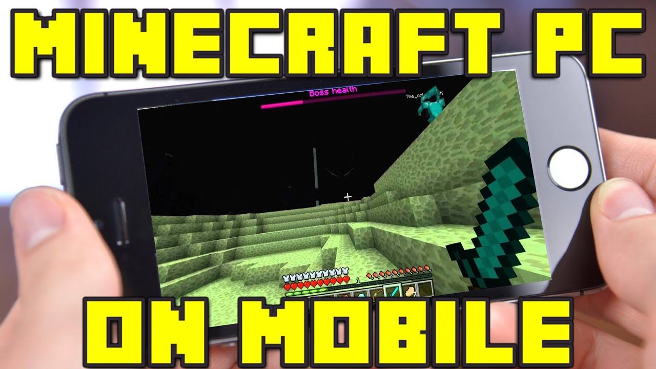 How to Play Minecraft PC Edition on Your Mobile Device!