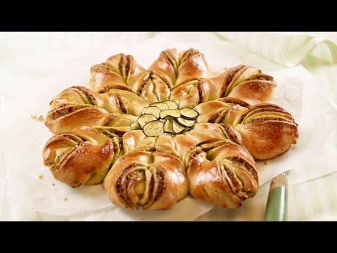 pain-fleur-au-pesto-de-courgettes---recette-au-four-de-betty-bossi