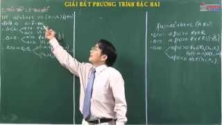Bài giảng đại số 10 - Bất đẳng thức - Bất phương trình - Giải bất phương trình bậc hai