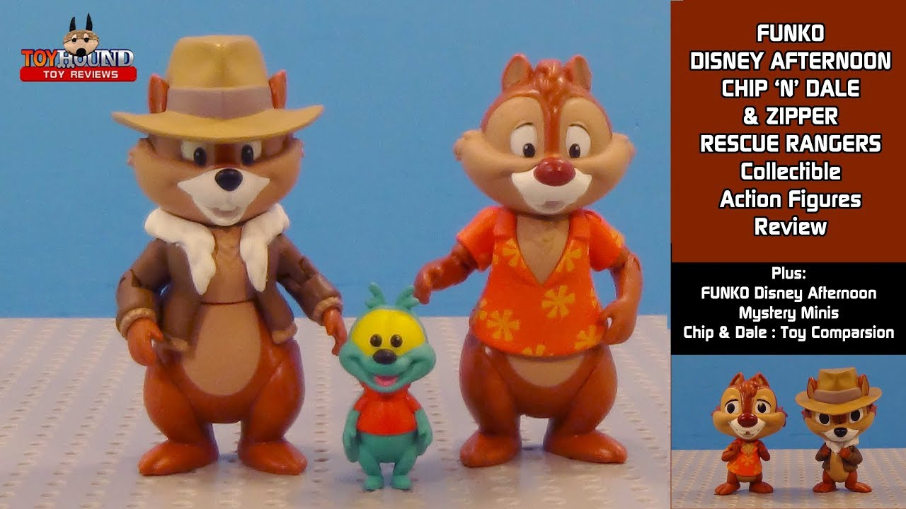 funko disney afternoon chip n dale zipper rescue rangers action
