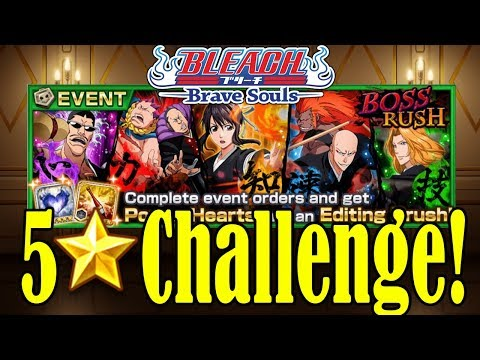 Bleach Brave Souls 5 Star Boss Rush Challenge