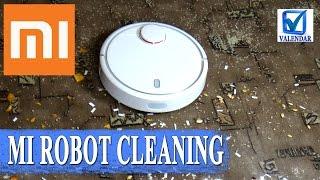 как убирает Xiaomi Mi Robot - тест уборка робота пылесоса