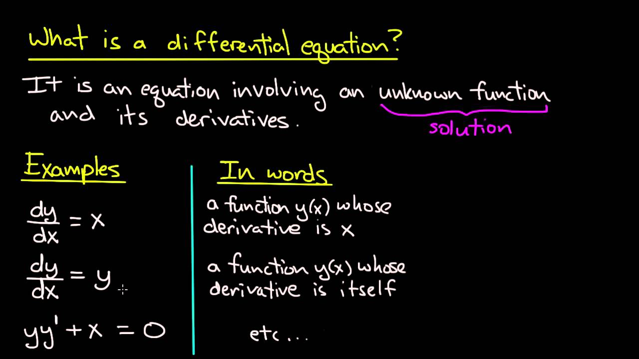 ODE | What Is A Differential Equation?