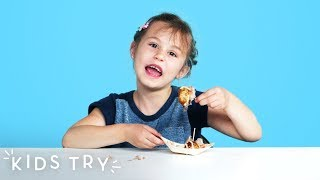 Kids Try Street Food from Asia | Kids Try | HiHo Kids