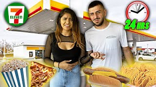 We Ate ONLY GAS STATION FOOD FOR 24 HOURS! *IMPOSSIBLE CHALLENGE*