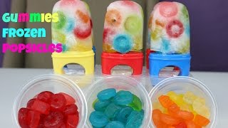 FROZEN Popsicles-Life Savers & Gummy Bears Popsicles-Ice Lolly-Sunday Treats|B2cutecupcakes