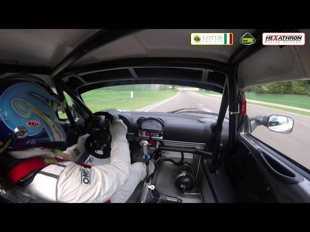 Nicola Larini su Lotus Elise Cup PB-R a Imola